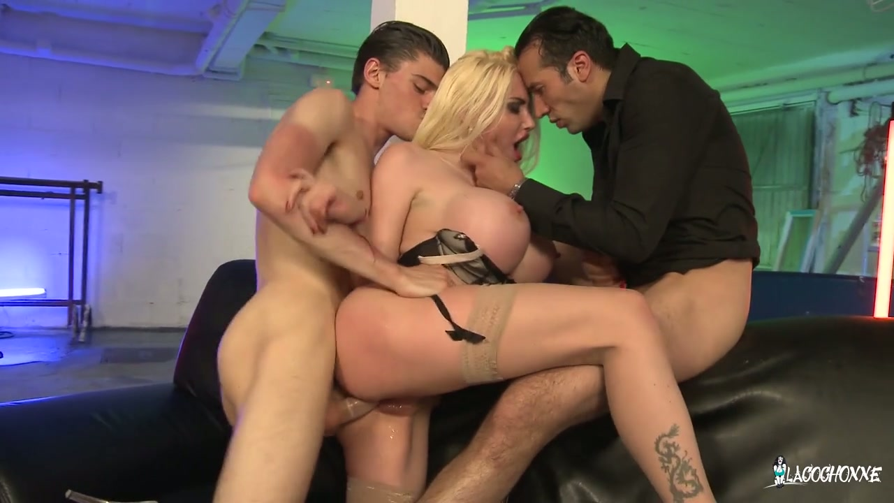 Chubby Blonde Wife Threesome
